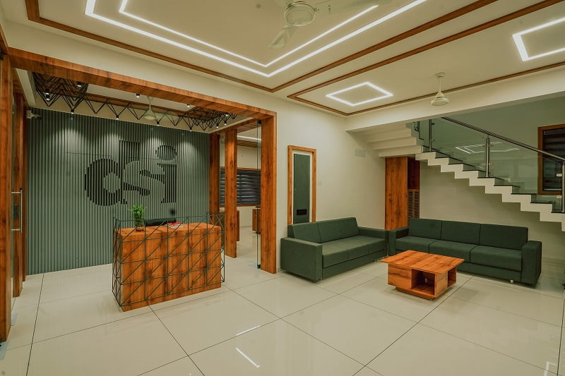 Modern office Interior, Rajkot, Indian architects, Darshan Steel, Interior design ideas,